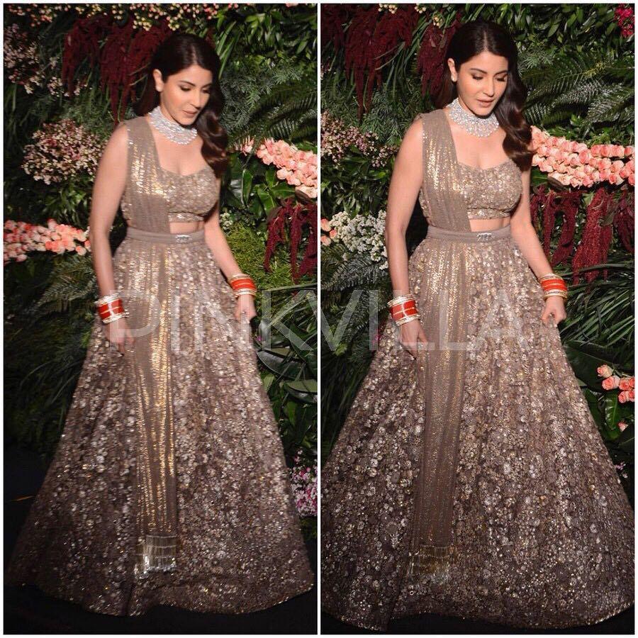 Anushka Sharma In Sabyasachi For Her Wedding Reception