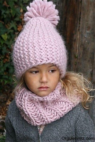 4a9623b74 Çocuk Bere ve Atkı orgulerimizcom | knitting dámske pletené čiapky |  Knitted hats kids, Baby hats knitting a Knitting