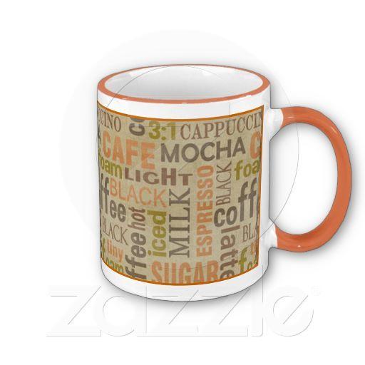 Coffee Words Mug By JunkyDotCom