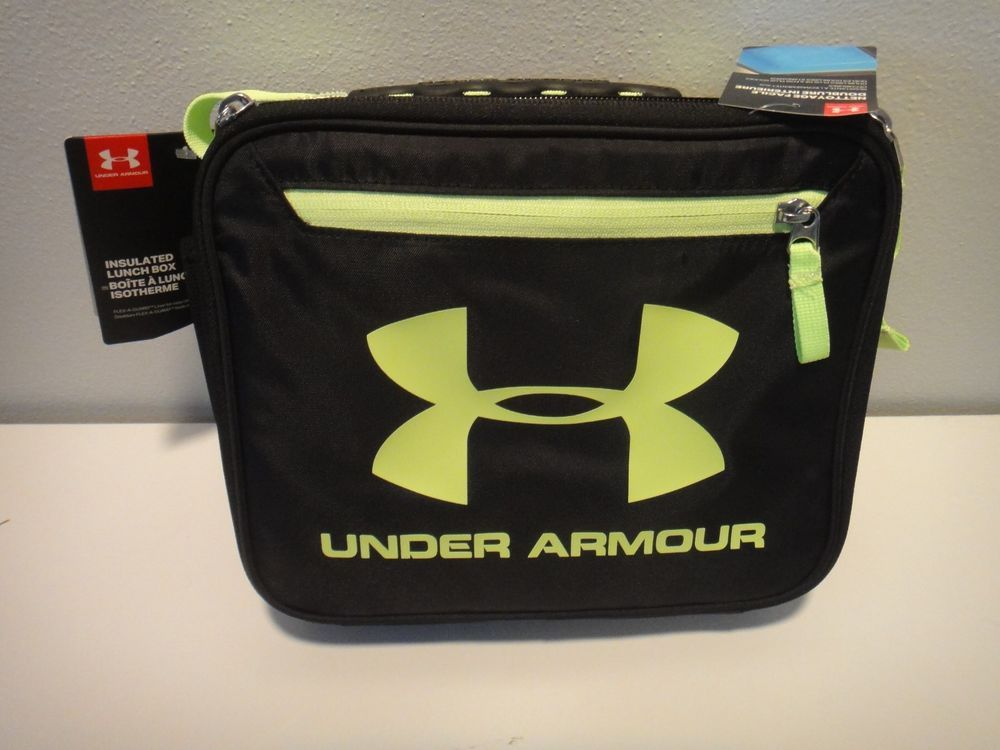 76d1d4b296 Under Armour Thermos insulated Lunch Cooler Fluorescent Green Black   Underarmour  LunchBox