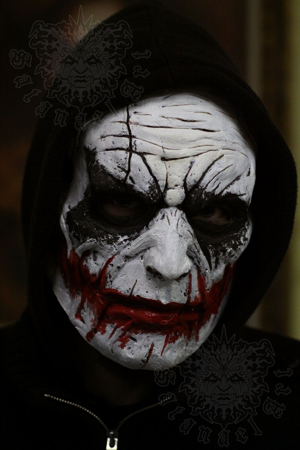 Brutal, love it. This mask is a custom mask for shooting. WANT IT ...