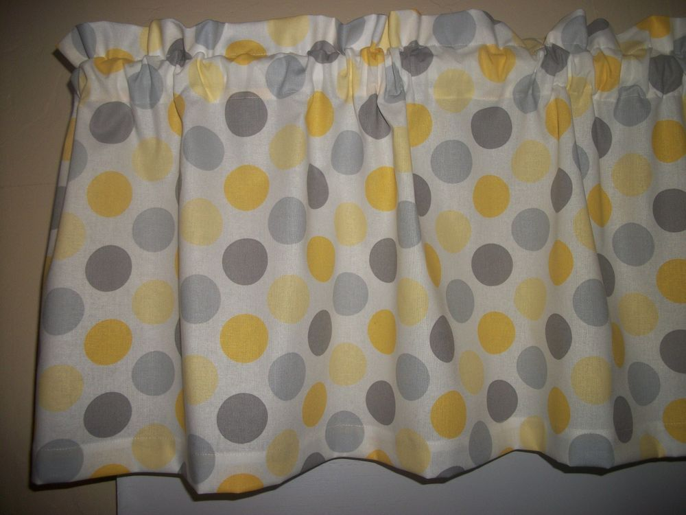 Best Yellow Gray Polka Dot Kitchen Bedroom Bathroom Fabric 400 x 300