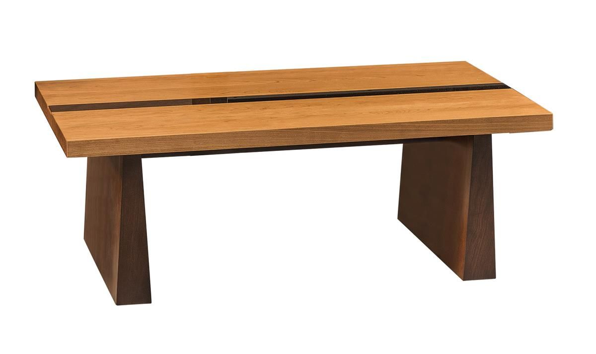 Amish Zurich Coffee Table With Glass Insert Living Room Furniture