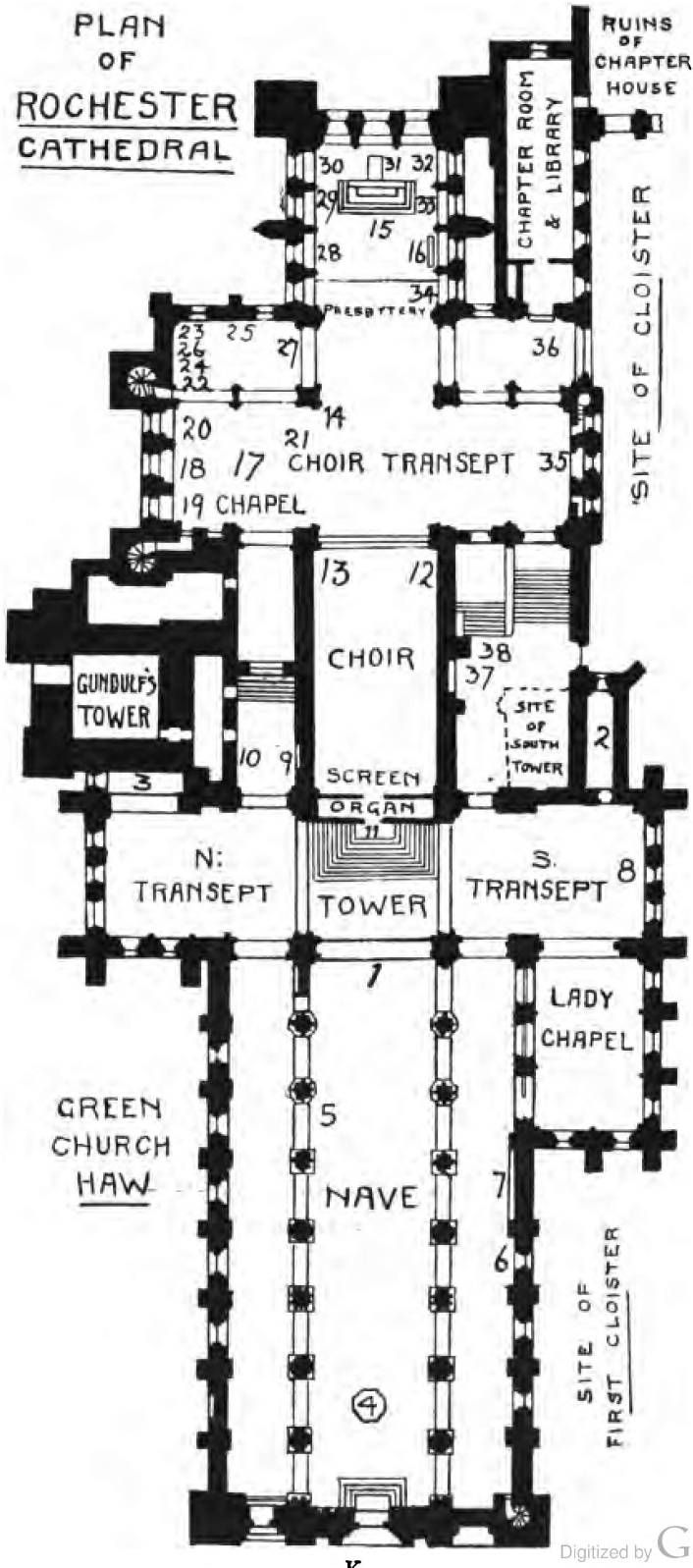 plan of rochester cathedral architecture pinterest