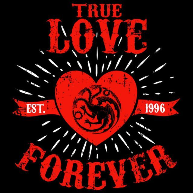 True Love Forever Dragon T-Shirt $12.99 Game of Thrones tee at Pop Up Tee!