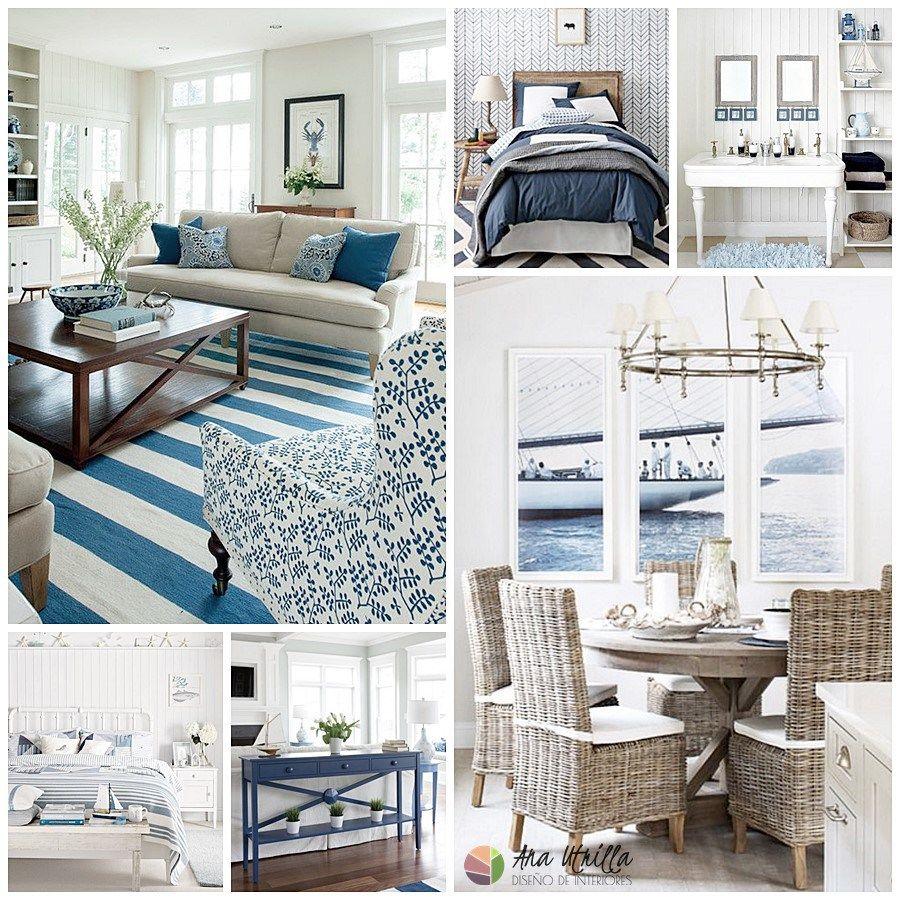 Decoraci n de interiores estilo navy o na tico espacios for Decoracion de espacios interiores