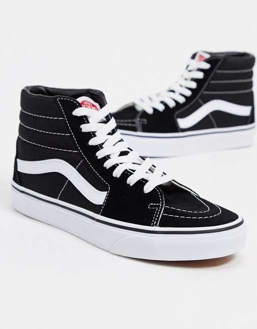 Vans SK8-Hi trainers in black and white