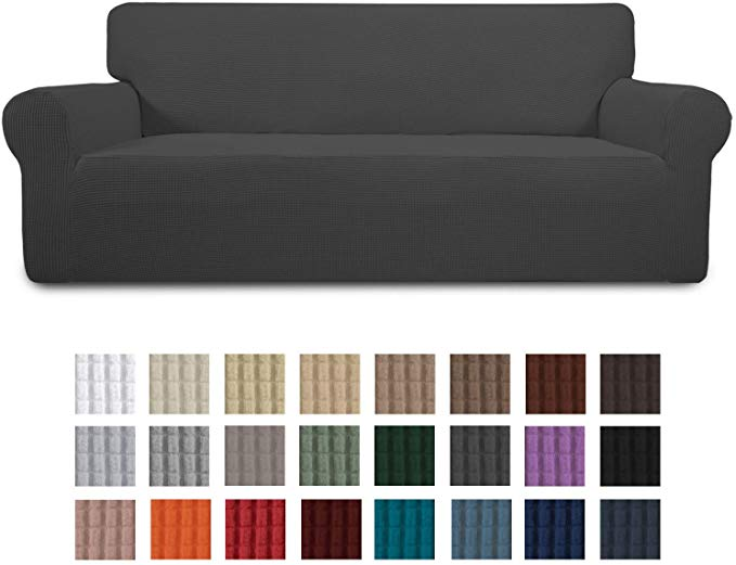 Amazon Com Easy Going Stretch Sofa Slipcover 1 Piece Couch Sofa Cover Furniture Protector Soft With Elastic Bottom For In 2020 Slipcovered Sofa Sofa Covers Slipcovers
