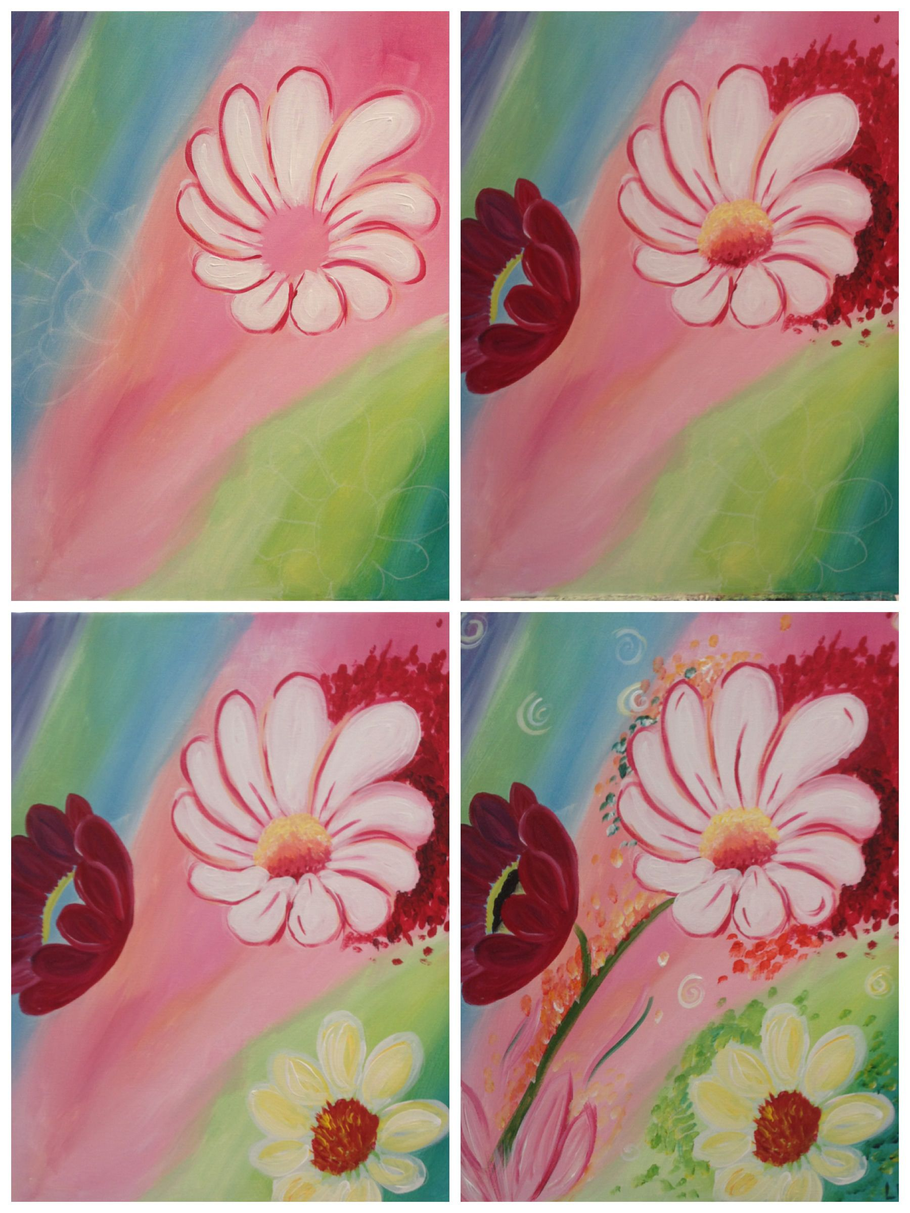 """Evolution of """"Summer Flowers"""" Painting with a Twist"""