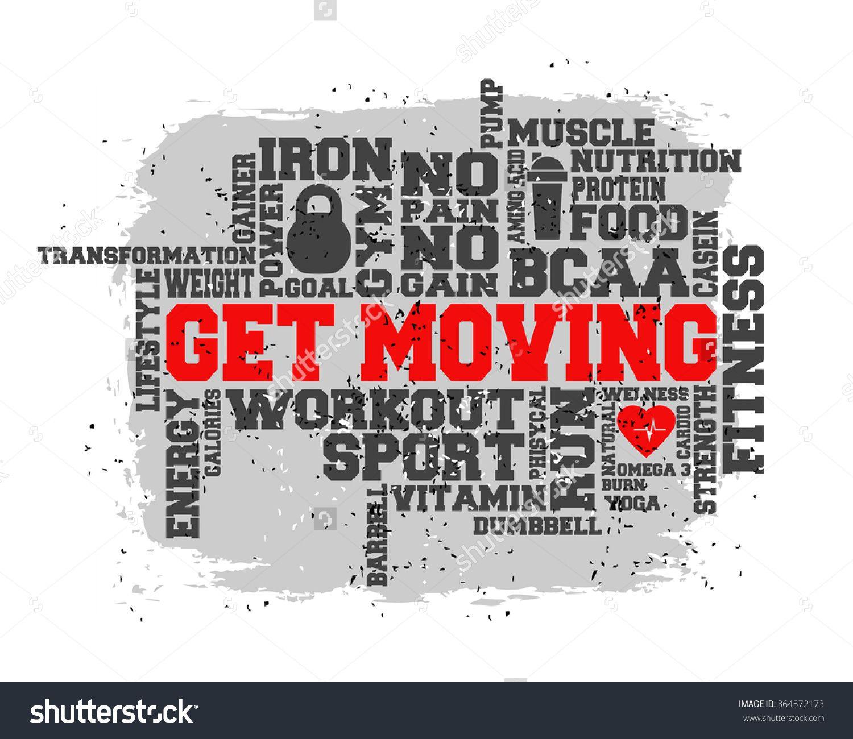 Fitness, Sport, Gym, Run, Lifestyle Health Concept. Word