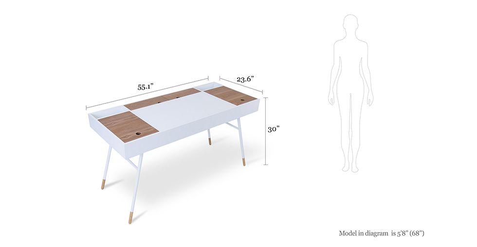 Morse White Desk