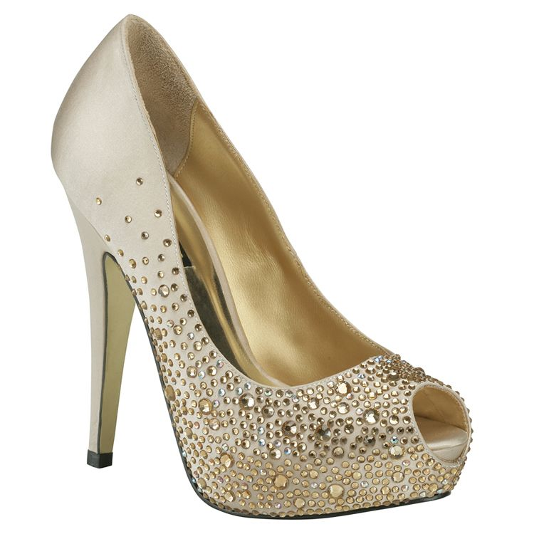 Beau Gold Evening Shoes   Wedding Shoes   Crystal Bridal Accessories