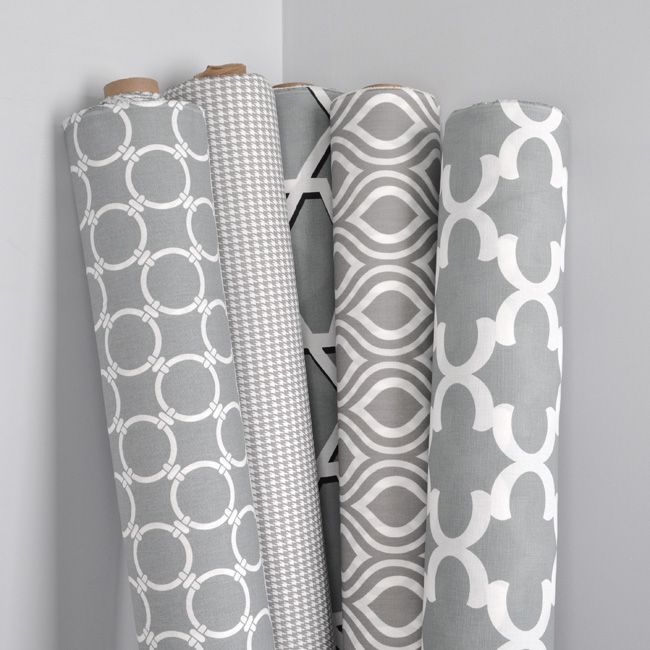 Gray and white fabric by Premier Prints from OnlineFabricStore.net ...