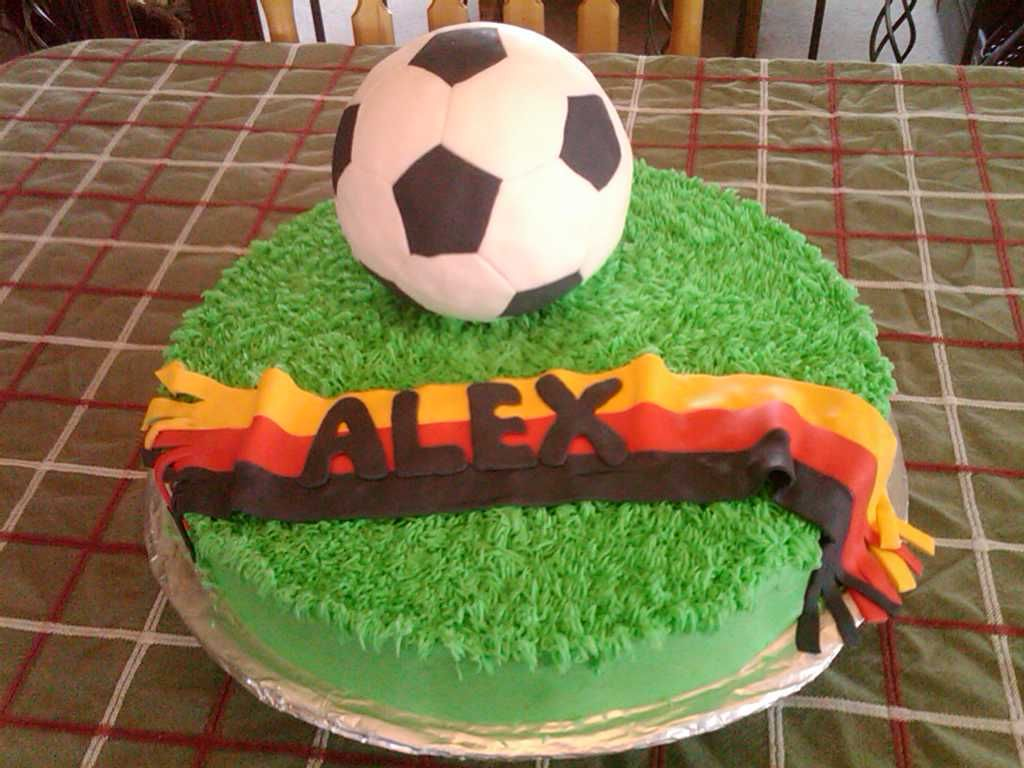 "How To Decorate A Soccer Ball Cake Soccer Cake  This Is A 12"" Buttercream Cake With The Soccer Ball"