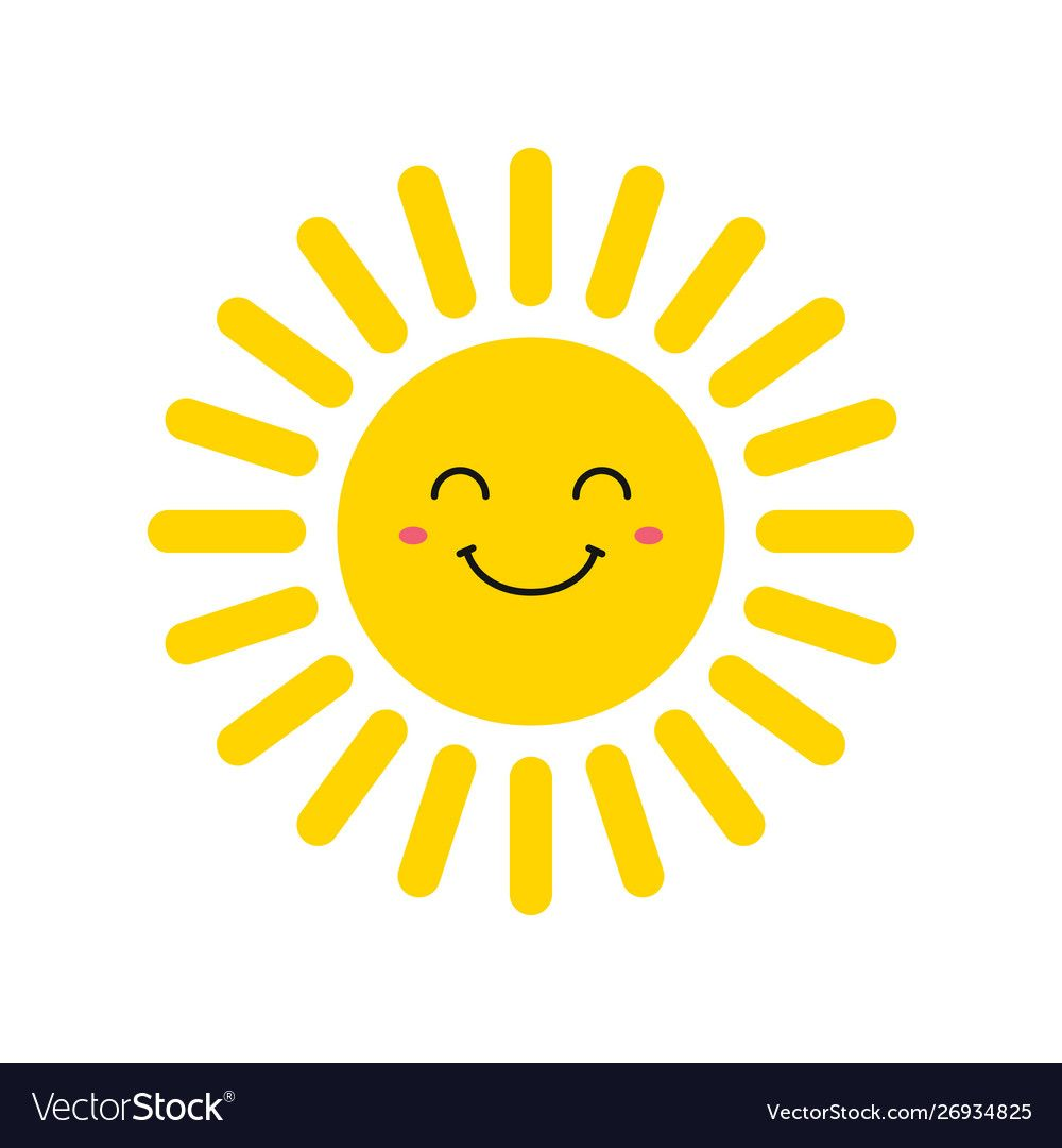 Cute Smiling Suns Smile Sun Emoji Summer Sun Vector Illustration Download A Free Preview Or High Quality Moon And Sun Painting Smiling Sun Sun Illustration