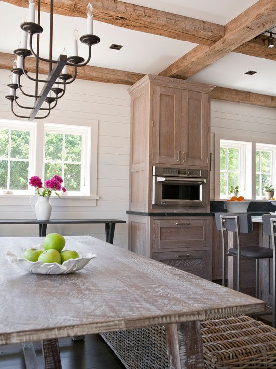 Interesting whitewash oak floors and cabinets contemporary kitchen white washed oak cabinets - Whitewashed oak cabinets ...