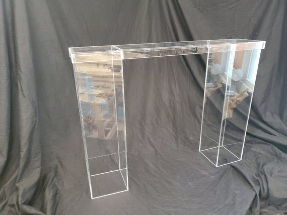 Clear Acrylic Table Bridge 32 H X 36 L Hand Crafted In The
