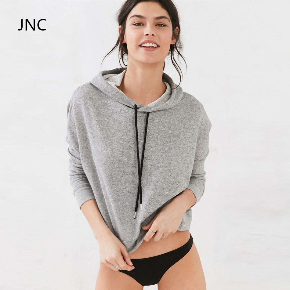 JNC Cropped Sweatshirt Grey Long sleeve Sweater Streetstyle ...