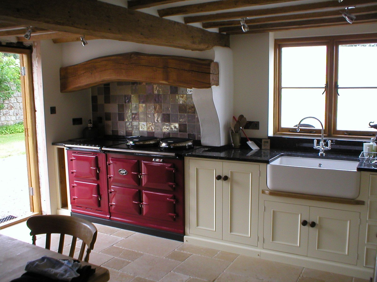 Farmhouse kitchen colors related keywords amp suggestions farmhouse - The Aga Cooker Anglophile Friday Love The Beam Above The Cooker Small Country Kitchens Farmhouse
