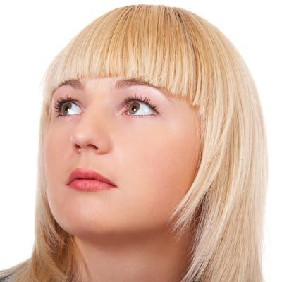 Blunt Cut Bangs For Round Faces Make Sure The Bang Eyebrow