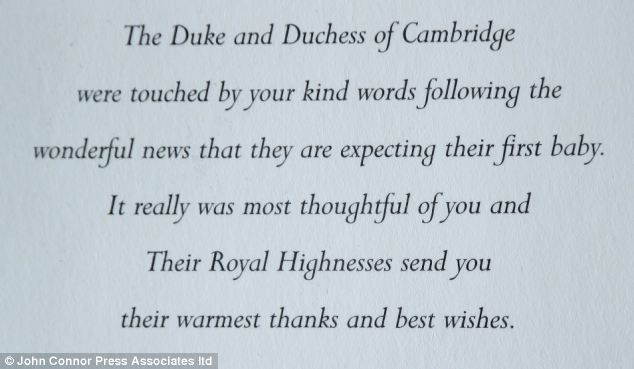 A Very Special Delivery Kate And Wills Send Thank You Messages To