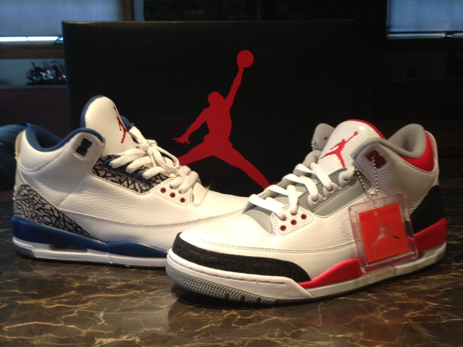 competitive price 3baf7 0caf3 09 True Blue 3s and Fire Red 3s | Nice Kicks