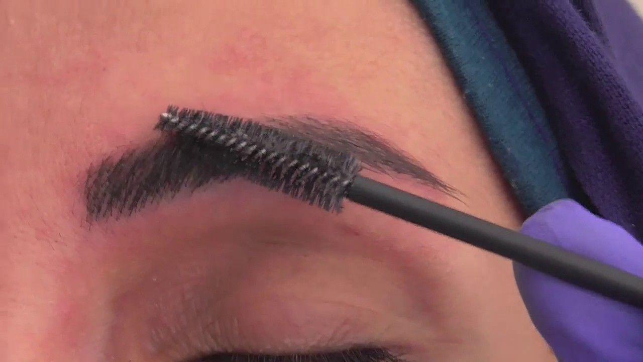 Cosmetic eyebrow tattoo microblading by nouna baz