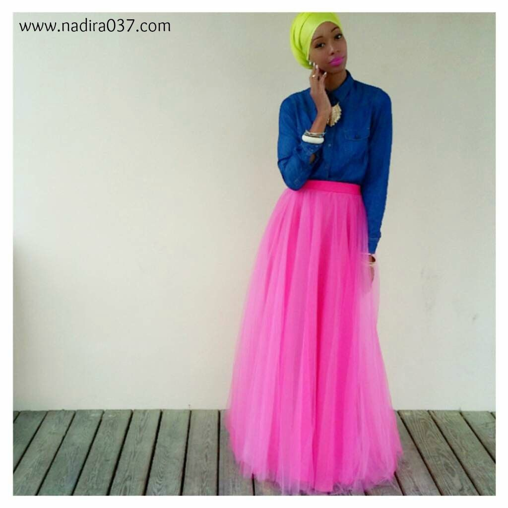 Nadira037: OOTD | Pretty in Pink | Tulle Maxi Skirt | Fashion and ...