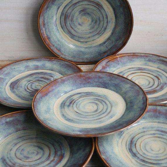 Ceramic Dinnerware Dishes Rustic Earthy Glaze by AndoverPottery & Ceramic Dinnerware Dishes Rustic Earthy Glaze by AndoverPottery ...