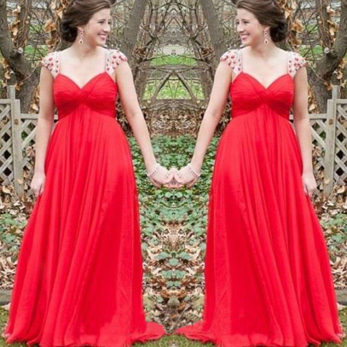 Chiffon prom dressesstraps prom dressmodest evening gownsparkly