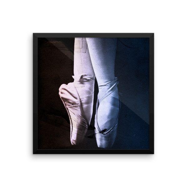 Grunge Blue Black Ballerina Framed Art   Black ballerina and Products