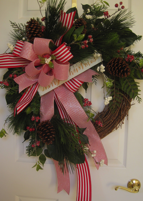 Christmas Wreath, Mantel/Fireplace Wreath, Holiday Wreath ...