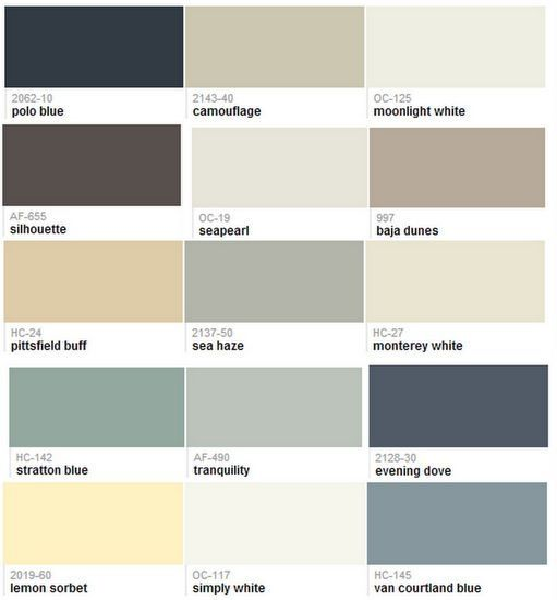 Benjamin Moore Whole House Paint Color Scheme By
