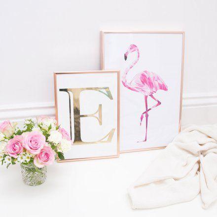 Eulenschnitt bilderrahmen aluminium ros gold online kaufen - Tumblr deko kaufen ...