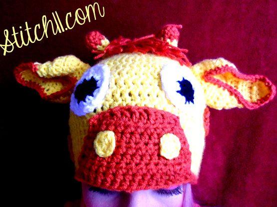 Adult Giraffe Hat - So funny!! | Crochet {Hats!} | Pinterest