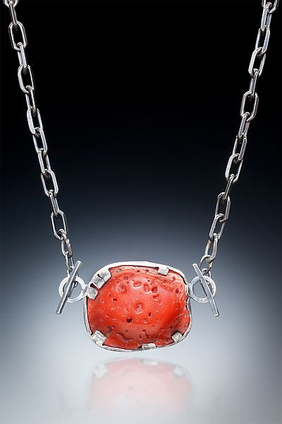 Nina Mann: Coral and Sterling Necklace