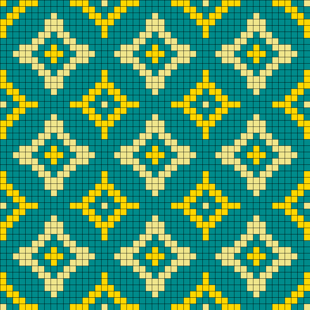 Old Wallpaper Perler Bead Pattern | Bead Sprites | Simple Fuse Bead Patterns