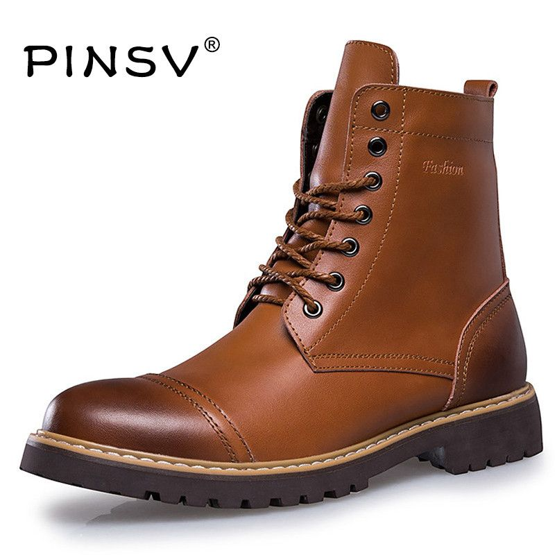 Shoes Men Winter Boots Brand Ankle Cowboy Boots Men Winter