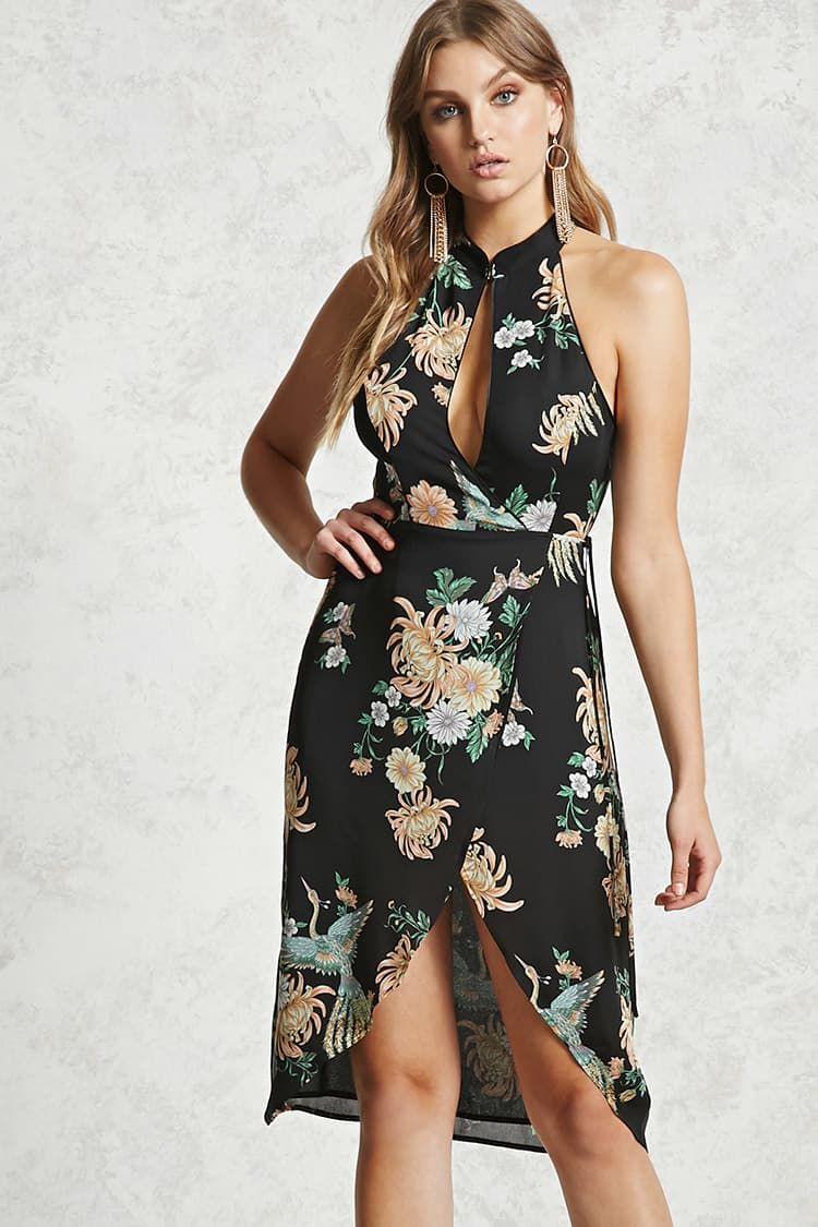 Vestido Corto Flores Contemporary En 2019 Vestidos De