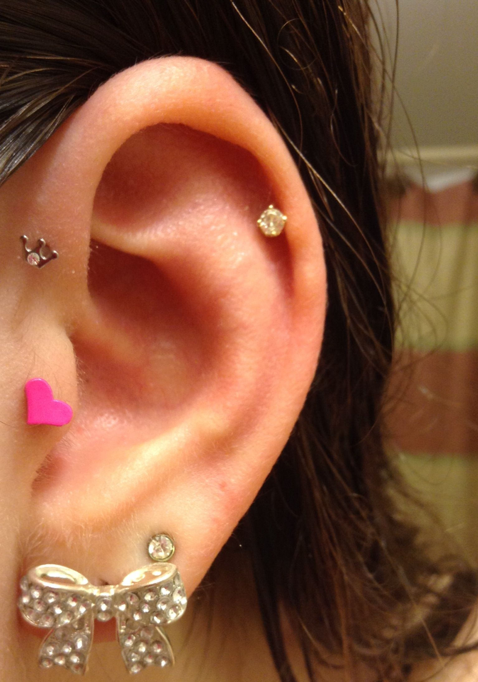 Tragus Piercing Front Helix Piercing Lobe And Cartilage Piercing Tumblr! It  Did Not Hurt To