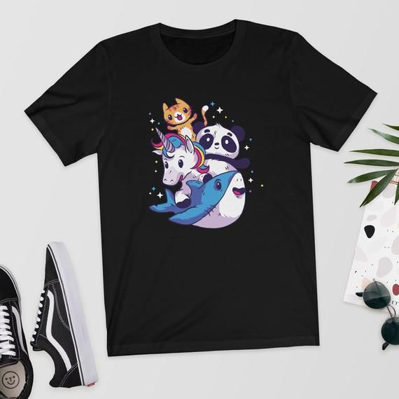 Super Cute Animals - T-Shirt/Shirt/Top/Tee - Unicorn Shirt,Cute Unicorn,Horse Shirt,Magical Unicorn,Uni corn Shirt,Baby Shark,Baby Panda #babypandas