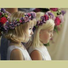 flower girl headdress - Google Search