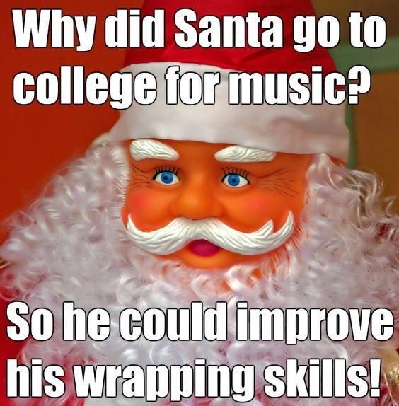 Bad Christmas Jokes.Santa Wrap Xmas Christmas Memes Funny Laugh