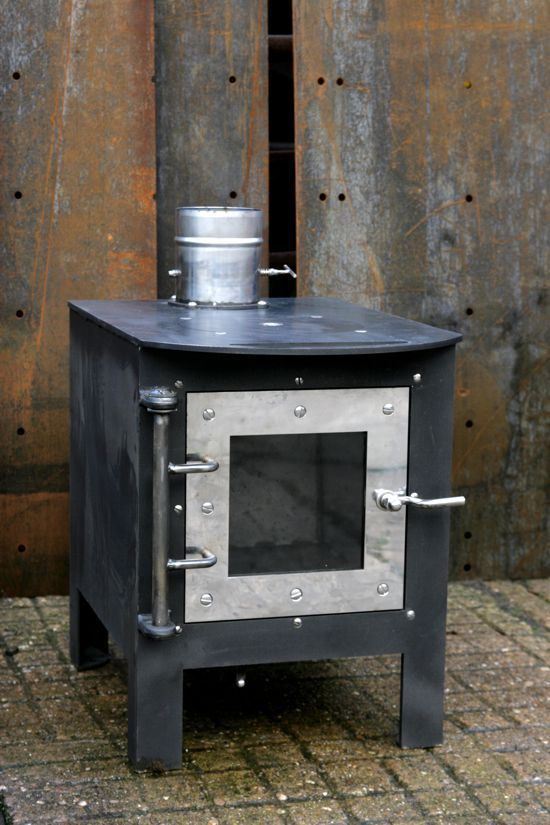 Hornet Home Stove With Removable Cooking Hob In Heavy Steel Plate Polished Stainless
