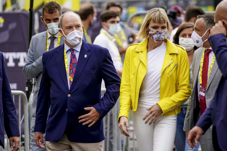 The Prince and Princess of Monaco Attend Tour de France ...
