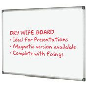 Staples Magnetic Dry Wipe Board - 1200 x 900mm