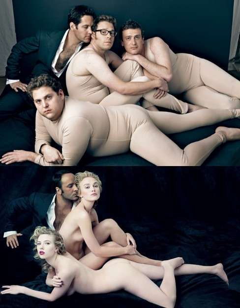 Gwyneth paltrow poses nearly naked for vanity fair calendar