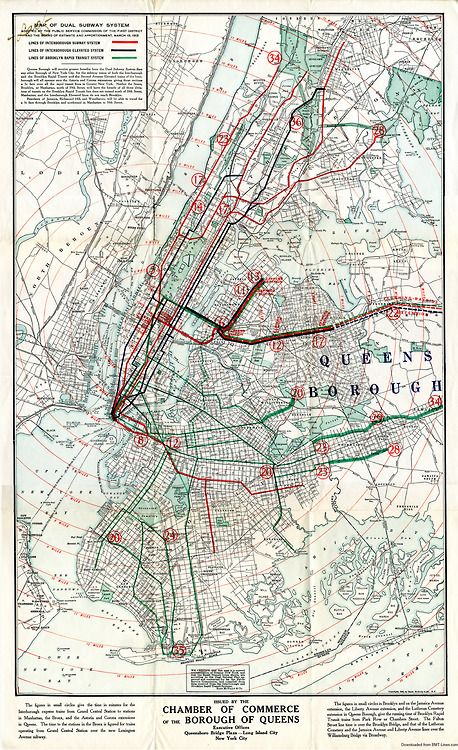 Irt Nyc Subway Map.Map Of The Dual Subway System New York City 1913 Map Showing The