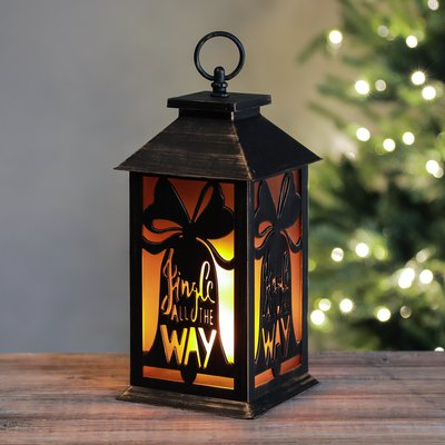 The Holiday Aisle Holiday Bells Flame 36 Light Led Lantern Led Lantern Lantern Lamp Lanterns