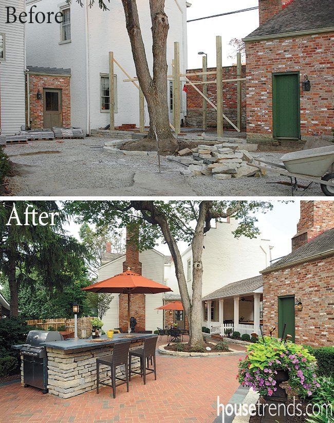 Backyard Makeover Before After In Dayton